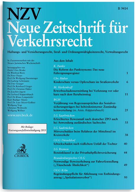 NZV Neue Zeitschrift für Verkehrsrecht