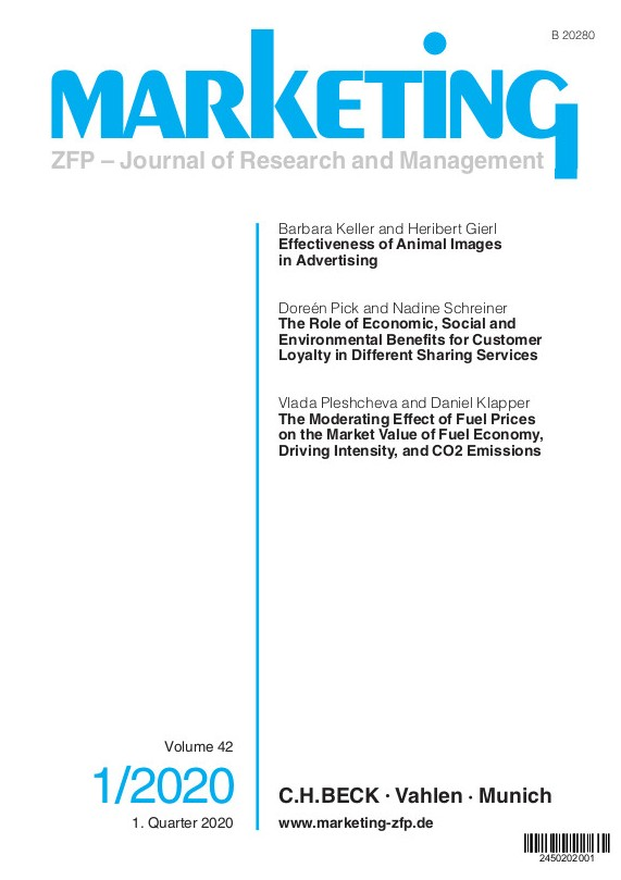 Marketing ZFP - Journal of Research and Management