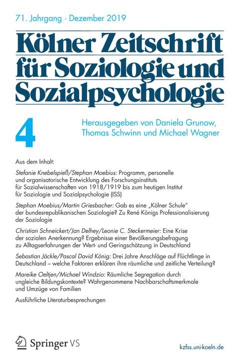 Kölner Zeitschrift für Soziologie und Sozialpsychologie KZfSS