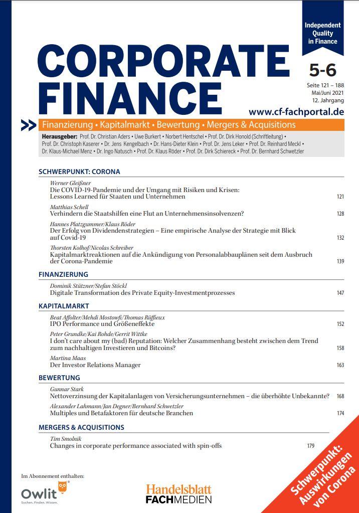 Corporate Finance Studentenabo