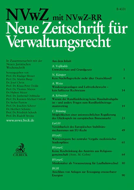 NVwZ - Neue Zeitschrift für Verwaltungsrecht mit NVwZ-RR