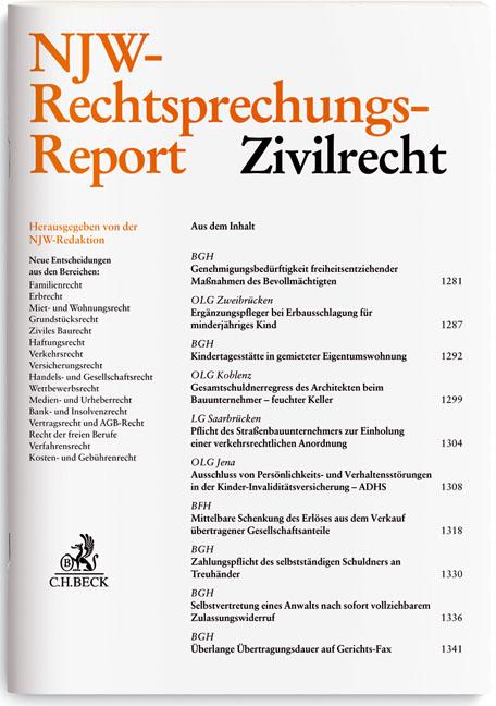 NJW-RR Rechtsprechungs-Report Zivilrecht