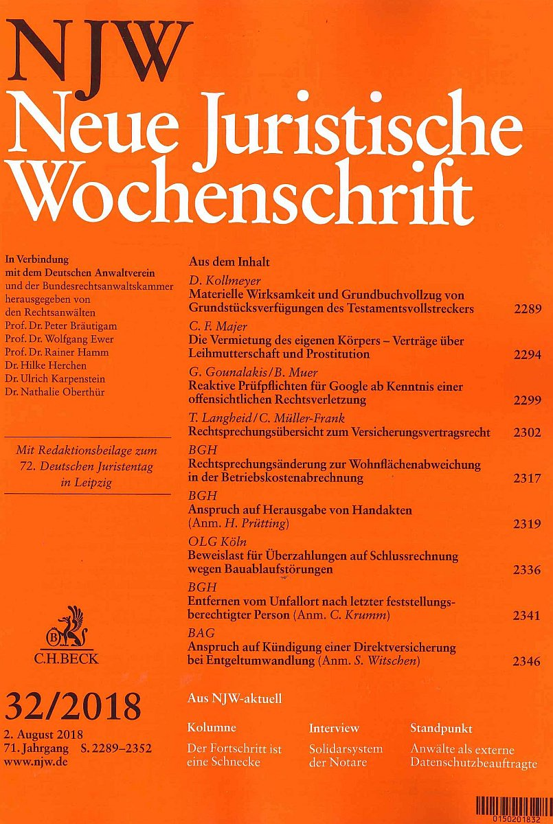 NJW - Neue Juristische Wochenschrift