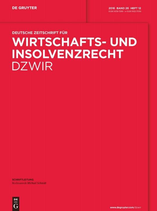 Deutsche Zeitschrift für Wirtschafts- und Insolvenzrecht DZWIR