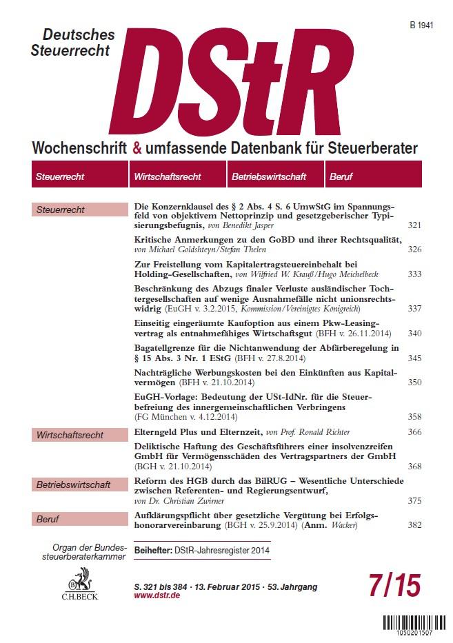 DStR-Deutsches Steuerrecht