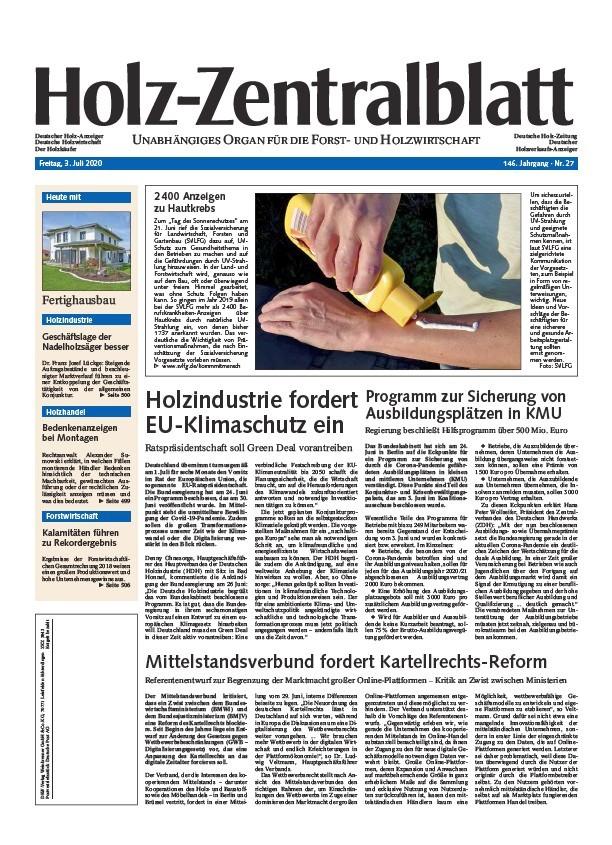Holz-Zentralblatt