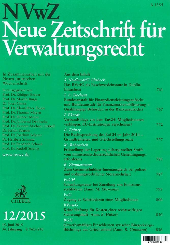 NVwZ - Neue Zeitschrift für Verwaltungsrecht
