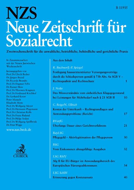 Neue Zeitschrift für Sozialrecht NZS