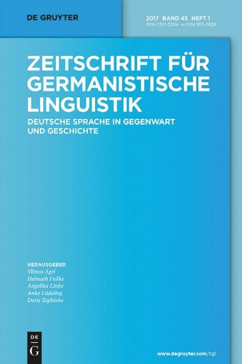 Zeitschrift für germanistische Linguistik ZGL