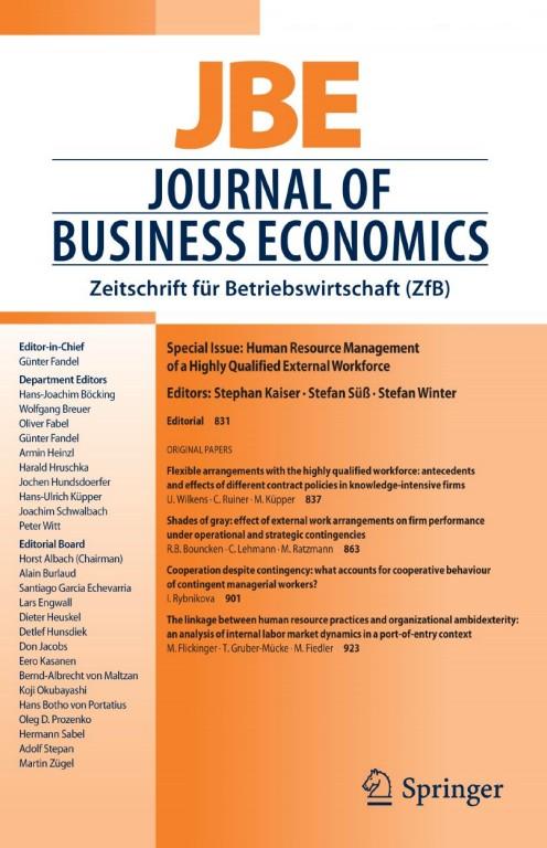 JBE Journal of Business Economics